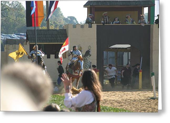 Rennfest Greeting Cards - Maryland Renaissance Festival - Jousting and Sword Fighting - 1212125 Greeting Card by DC Photographer