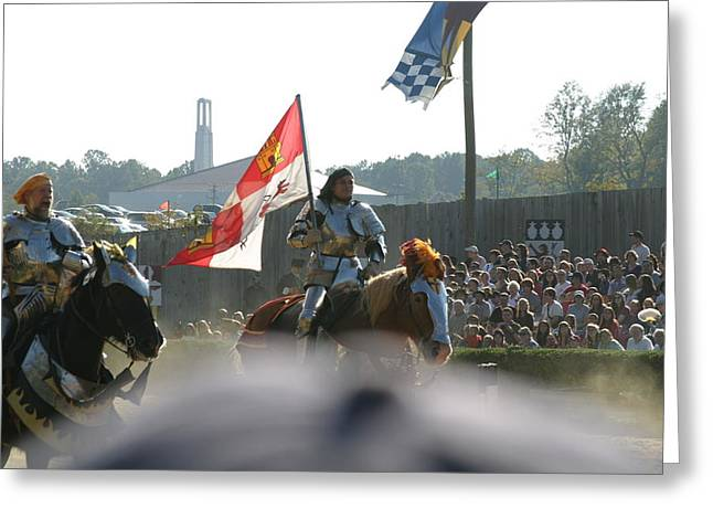 Maryland Renaissance Festival - Jousting And Sword Fighting - 1212128 Greeting Card by DC Photographer