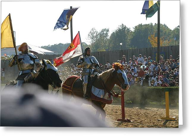 Rennfest Greeting Cards - Maryland Renaissance Festival - Jousting and Sword Fighting - 1212129 Greeting Card by DC Photographer
