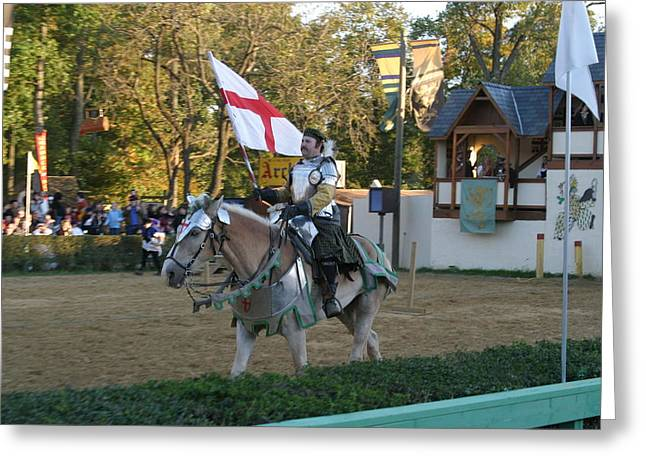 Knight Greeting Cards - Maryland Renaissance Festival - Jousting and Sword Fighting - 121213 Greeting Card by DC Photographer