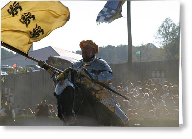 Fighting Greeting Cards - Maryland Renaissance Festival - Jousting and Sword Fighting - 1212130 Greeting Card by DC Photographer