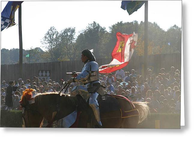 Rennfest Greeting Cards - Maryland Renaissance Festival - Jousting and Sword Fighting - 1212131 Greeting Card by DC Photographer
