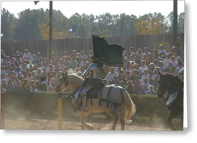 Rennfest Greeting Cards - Maryland Renaissance Festival - Jousting and Sword Fighting - 1212132 Greeting Card by DC Photographer