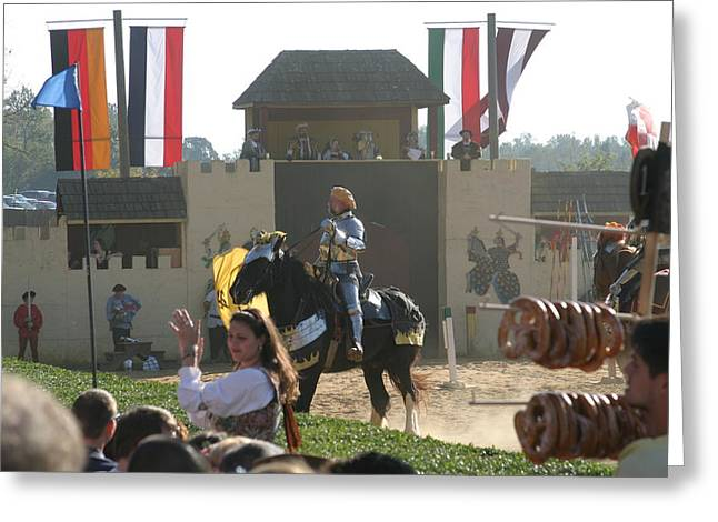 Rennfest Greeting Cards - Maryland Renaissance Festival - Jousting and Sword Fighting - 1212133 Greeting Card by DC Photographer