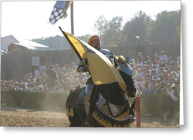 Maryland Renaissance Festival - Jousting And Sword Fighting - 1212135 Greeting Card by DC Photographer