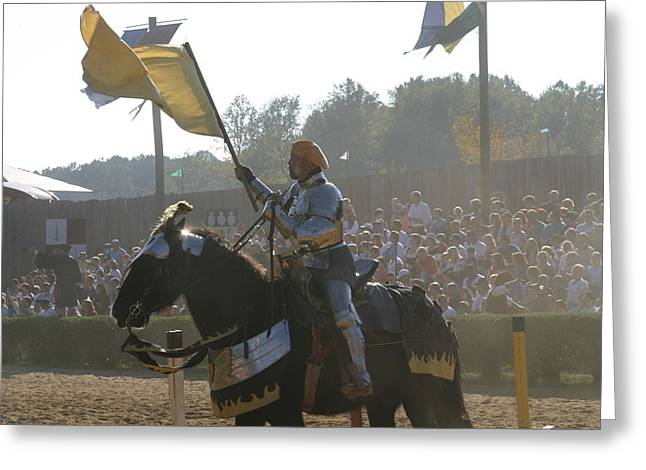 Horses Greeting Cards - Maryland Renaissance Festival - Jousting and Sword Fighting - 1212137 Greeting Card by DC Photographer