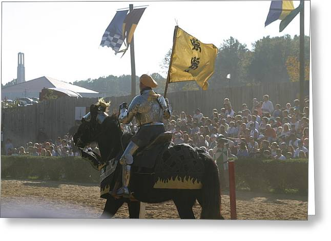 Rennfest Greeting Cards - Maryland Renaissance Festival - Jousting and Sword Fighting - 1212138 Greeting Card by DC Photographer