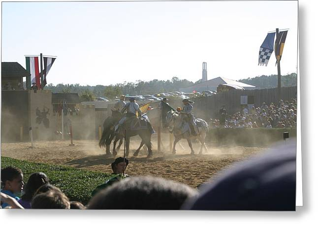 Rennfest Greeting Cards - Maryland Renaissance Festival - Jousting and Sword Fighting - 1212139 Greeting Card by DC Photographer
