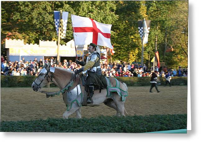 Medieval Greeting Cards - Maryland Renaissance Festival - Jousting and Sword Fighting - 121214 Greeting Card by DC Photographer