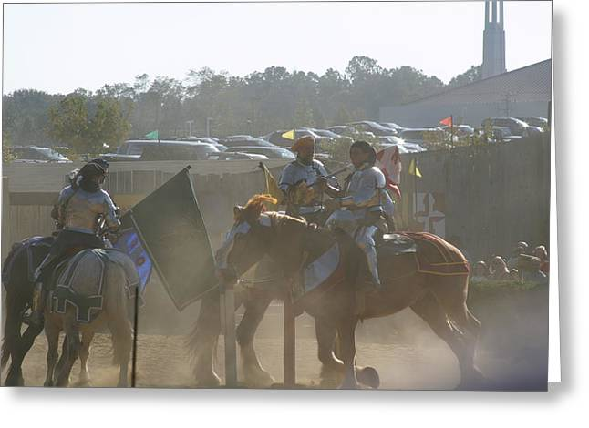 Knights Greeting Cards - Maryland Renaissance Festival - Jousting and Sword Fighting - 1212140 Greeting Card by DC Photographer