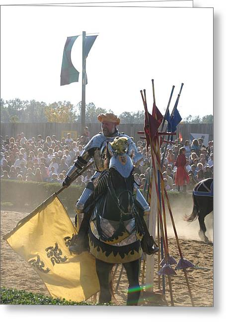 Artist Photographs Greeting Cards - Maryland Renaissance Festival - Jousting and Sword Fighting - 1212145 Greeting Card by DC Photographer