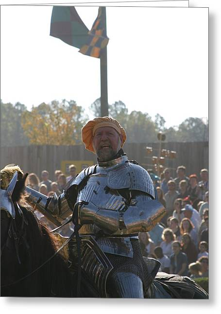 Maryland Renaissance Festival - Jousting And Sword Fighting - 1212147 Greeting Card by DC Photographer
