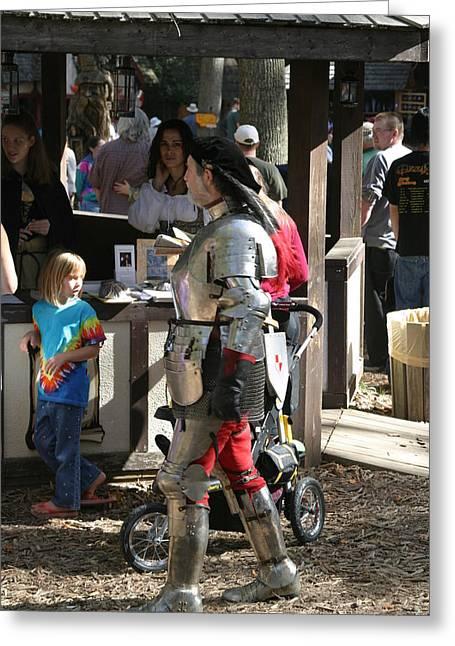 Sword Greeting Cards - Maryland Renaissance Festival - Jousting and Sword Fighting - 1212149 Greeting Card by DC Photographer