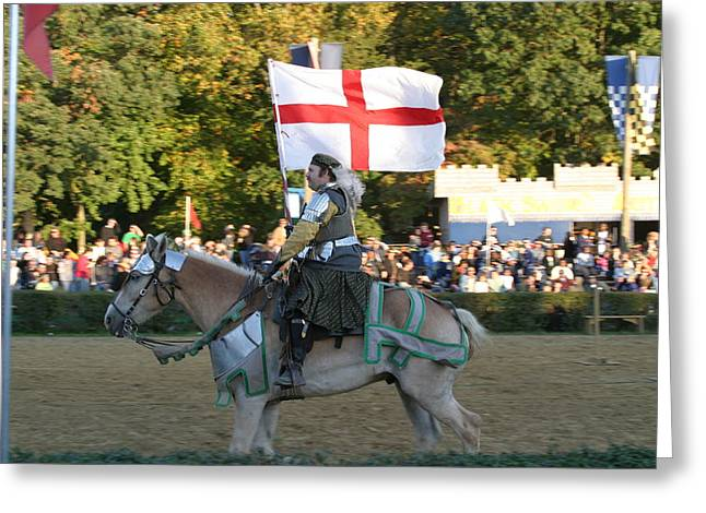 Aged Greeting Cards - Maryland Renaissance Festival - Jousting and Sword Fighting - 121215 Greeting Card by DC Photographer