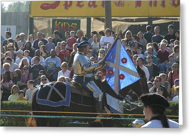 Middle Greeting Cards - Maryland Renaissance Festival - Jousting and Sword Fighting - 1212151 Greeting Card by DC Photographer