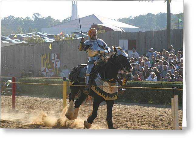 Knight Greeting Cards - Maryland Renaissance Festival - Jousting and Sword Fighting - 1212155 Greeting Card by DC Photographer