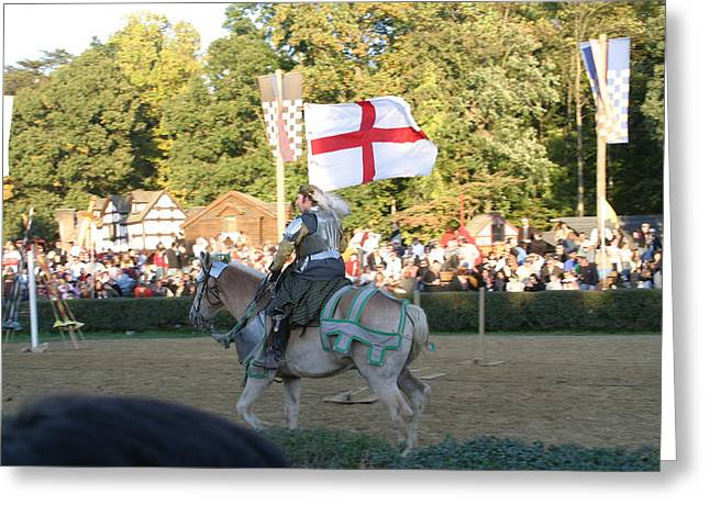 Fight Greeting Cards - Maryland Renaissance Festival - Jousting and Sword Fighting - 121216 Greeting Card by DC Photographer