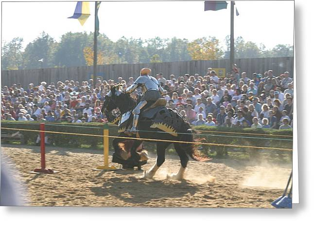 Rennfest Greeting Cards - Maryland Renaissance Festival - Jousting and Sword Fighting - 1212161 Greeting Card by DC Photographer