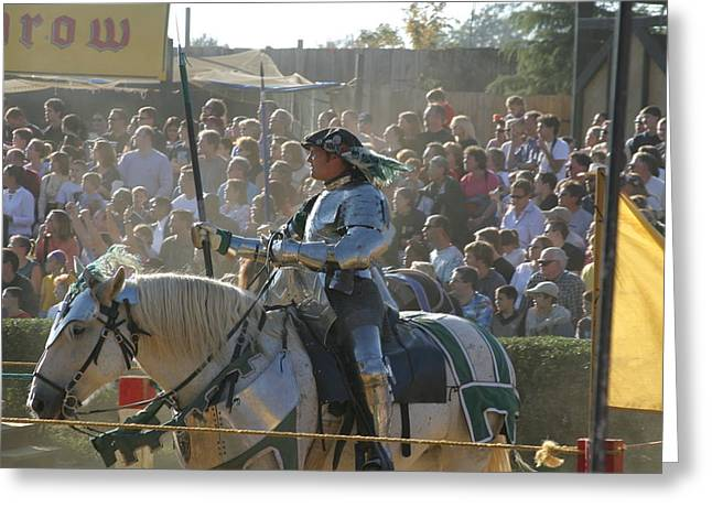 Rennfest Greeting Cards - Maryland Renaissance Festival - Jousting and Sword Fighting - 1212162 Greeting Card by DC Photographer