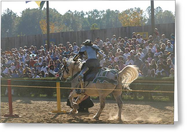Aged Photographs Greeting Cards - Maryland Renaissance Festival - Jousting and Sword Fighting - 1212167 Greeting Card by DC Photographer