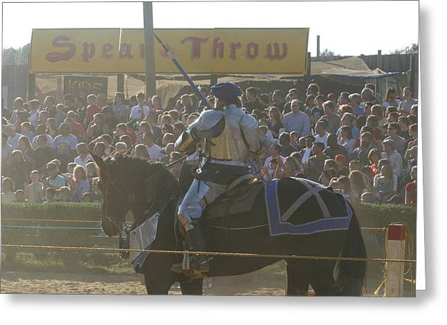 Rennfest Greeting Cards - Maryland Renaissance Festival - Jousting and Sword Fighting - 1212168 Greeting Card by DC Photographer