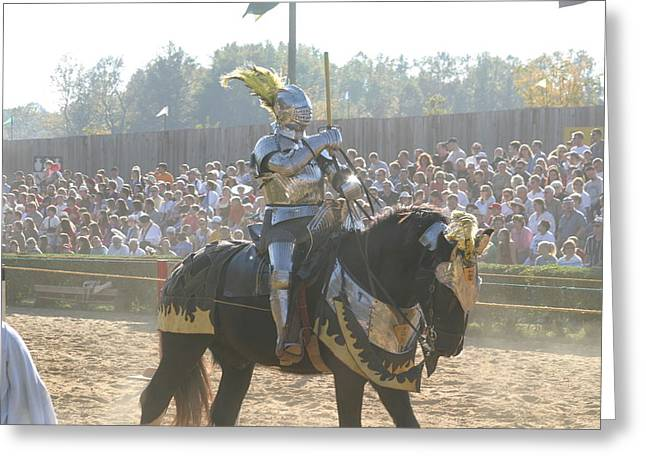 Maryland Renaissance Festival - Jousting And Sword Fighting - 1212171 Greeting Card by DC Photographer