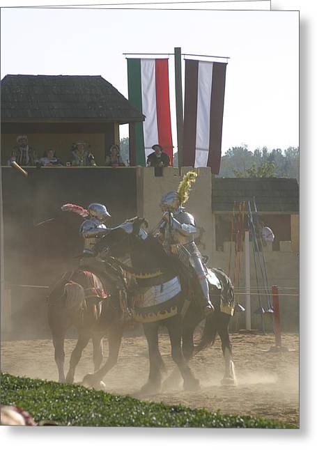 Fighting Greeting Cards - Maryland Renaissance Festival - Jousting and Sword Fighting - 1212179 Greeting Card by DC Photographer