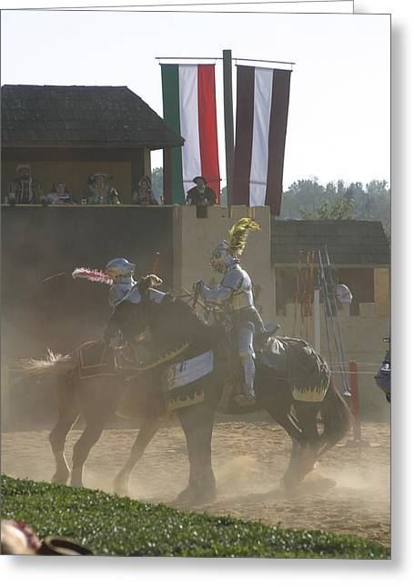 Knight Greeting Cards - Maryland Renaissance Festival - Jousting and Sword Fighting - 1212180 Greeting Card by DC Photographer