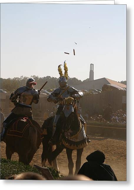 Rennfest Greeting Cards - Maryland Renaissance Festival - Jousting and Sword Fighting - 1212182 Greeting Card by DC Photographer