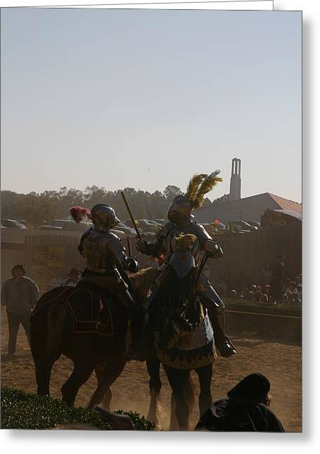 Knight Greeting Cards - Maryland Renaissance Festival - Jousting and Sword Fighting - 1212183 Greeting Card by DC Photographer