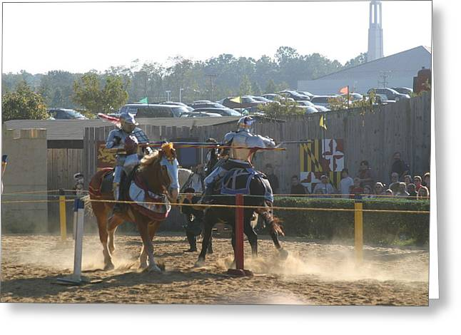 Rennfest Greeting Cards - Maryland Renaissance Festival - Jousting and Sword Fighting - 1212186 Greeting Card by DC Photographer