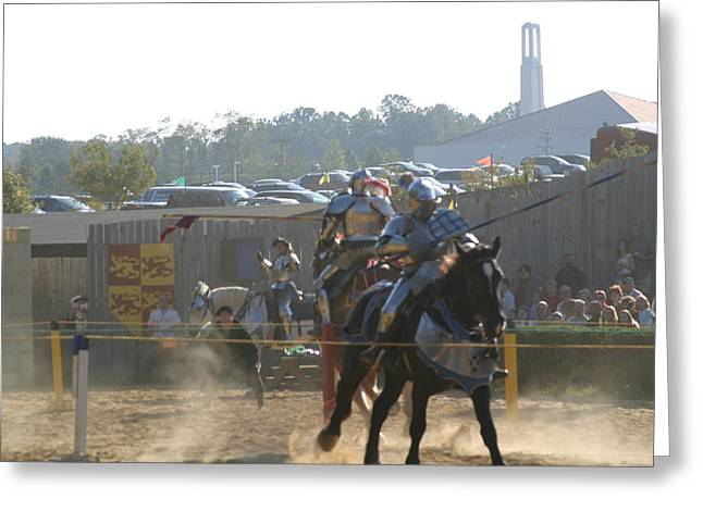 Rennfest Greeting Cards - Maryland Renaissance Festival - Jousting and Sword Fighting - 1212189 Greeting Card by DC Photographer