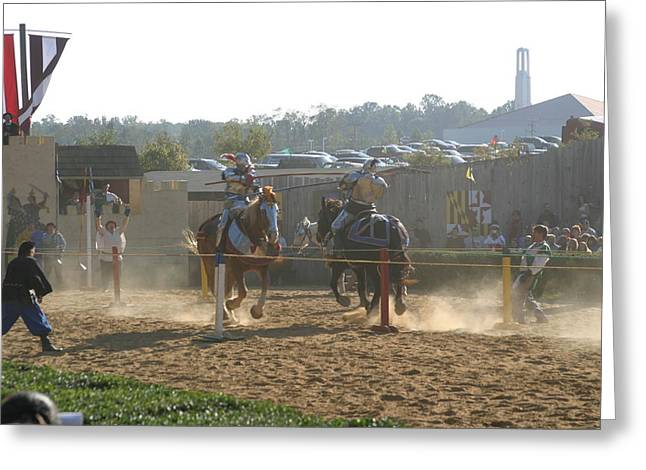 Artist Greeting Cards - Maryland Renaissance Festival - Jousting and Sword Fighting - 1212190 Greeting Card by DC Photographer