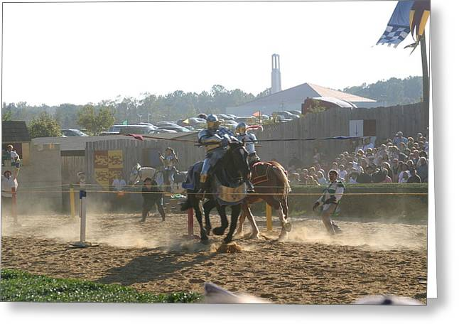 Rennfest Greeting Cards - Maryland Renaissance Festival - Jousting and Sword Fighting - 1212193 Greeting Card by DC Photographer