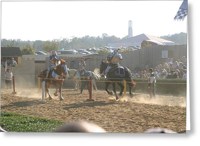 English Greeting Cards - Maryland Renaissance Festival - Jousting and Sword Fighting - 1212194 Greeting Card by DC Photographer