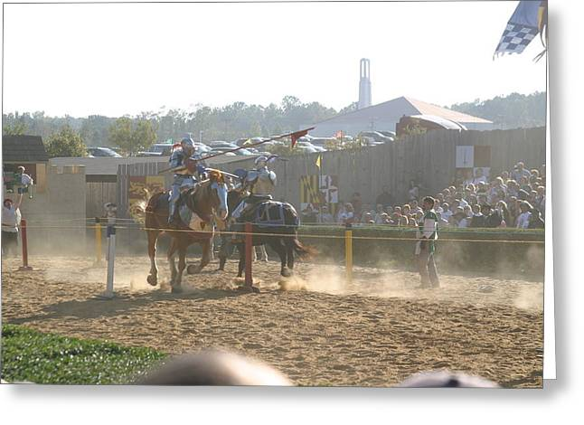Maryland Renaissance Festival - Jousting And Sword Fighting - 1212195 Greeting Card by DC Photographer