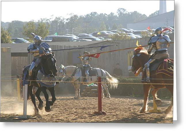 Rennfest Greeting Cards - Maryland Renaissance Festival - Jousting and Sword Fighting - 1212196 Greeting Card by DC Photographer