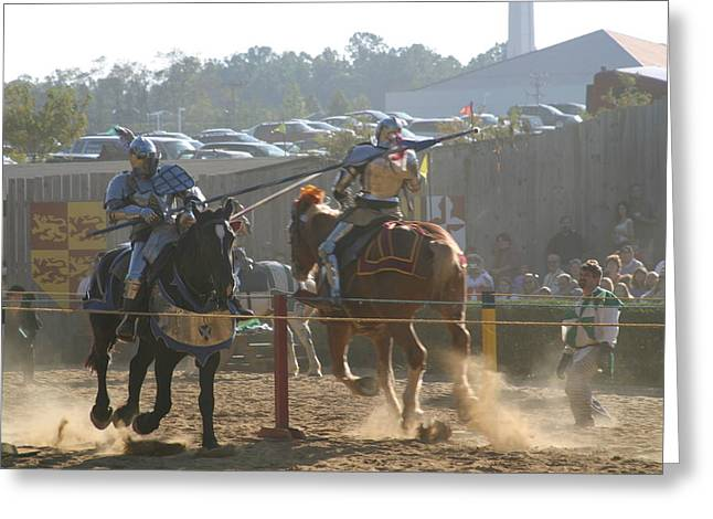 Knights Greeting Cards - Maryland Renaissance Festival - Jousting and Sword Fighting - 1212197 Greeting Card by DC Photographer