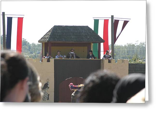 Rennfest Greeting Cards - Maryland Renaissance Festival - Jousting and Sword Fighting - 1212200 Greeting Card by DC Photographer