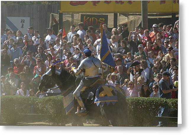 Knight Greeting Cards - Maryland Renaissance Festival - Jousting and Sword Fighting - 1212201 Greeting Card by DC Photographer