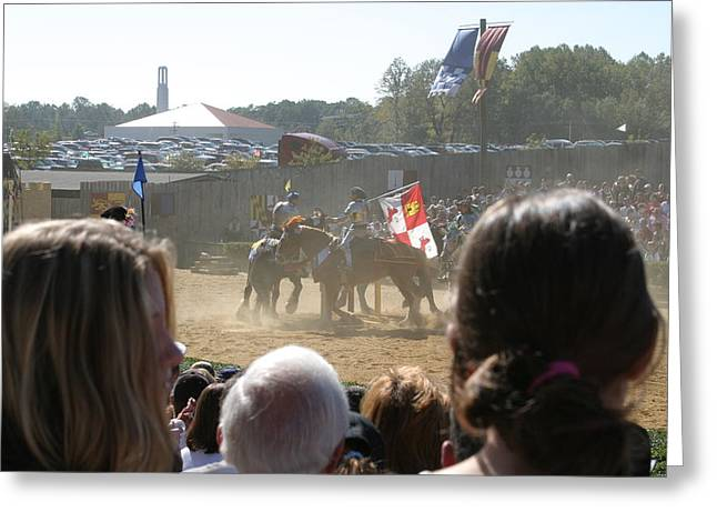 Costumes Greeting Cards - Maryland Renaissance Festival - Jousting and Sword Fighting - 1212203 Greeting Card by DC Photographer