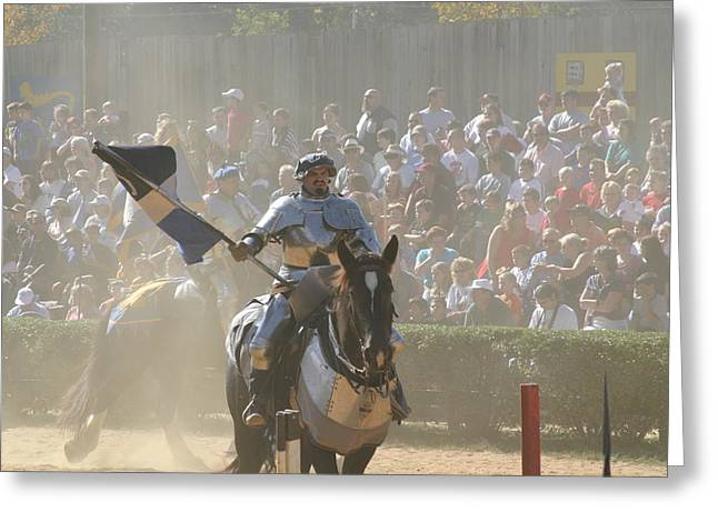 Knight Greeting Cards - Maryland Renaissance Festival - Jousting and Sword Fighting - 1212204 Greeting Card by DC Photographer