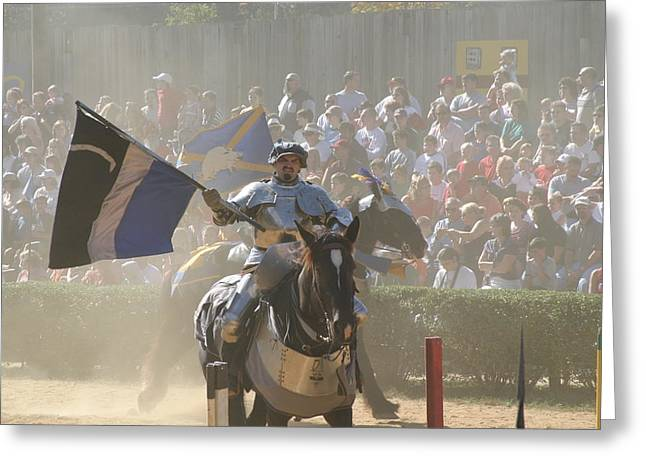 Rennfest Greeting Cards - Maryland Renaissance Festival - Jousting and Sword Fighting - 1212205 Greeting Card by DC Photographer