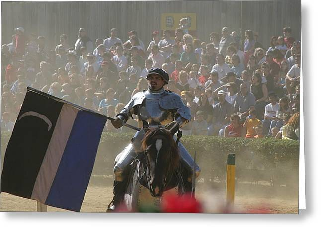 Fight Greeting Cards - Maryland Renaissance Festival - Jousting and Sword Fighting - 1212206 Greeting Card by DC Photographer