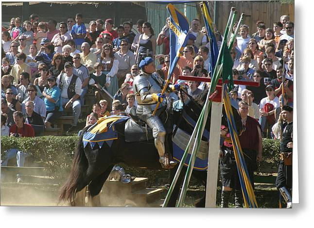 Fighting Greeting Cards - Maryland Renaissance Festival - Jousting and Sword Fighting - 1212207 Greeting Card by DC Photographer