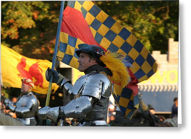 Fights Greeting Cards - Maryland Renaissance Festival - Jousting and Sword Fighting - 121221 Greeting Card by DC Photographer