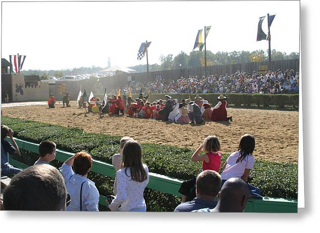 Knight Greeting Cards - Maryland Renaissance Festival - Jousting and Sword Fighting - 1212212 Greeting Card by DC Photographer