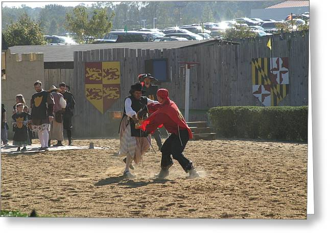 Rennfest Greeting Cards - Maryland Renaissance Festival - Jousting and Sword Fighting - 1212214 Greeting Card by DC Photographer