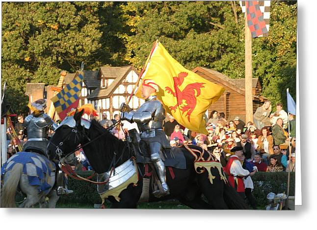 Armour Greeting Cards - Maryland Renaissance Festival - Jousting and Sword Fighting - 121223 Greeting Card by DC Photographer