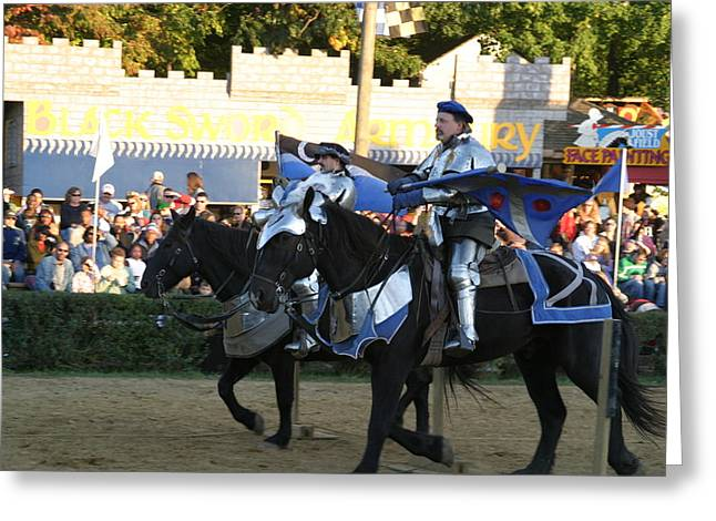 Jousting Greeting Cards - Maryland Renaissance Festival - Jousting and Sword Fighting - 121228 Greeting Card by DC Photographer